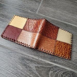 Men's Multi Brown Patch Wallet